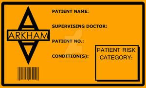 Arkham Patient ID - Blank