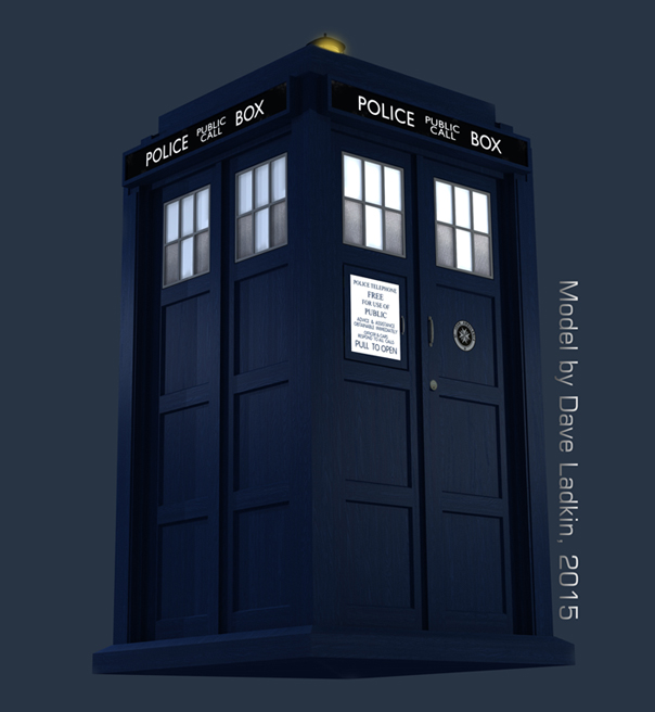 11th 12th Doctor S Tardis Exterior Cg Model By