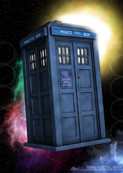 My 5th-6th Doctor TARDIS by VortexVisuals
