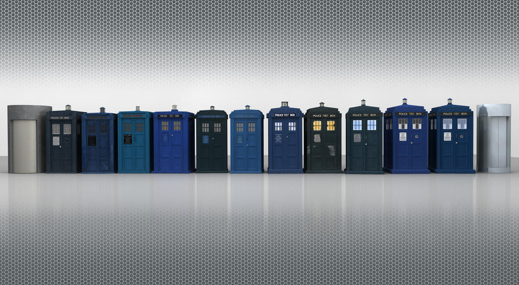 The Tardis Exteriors By Vortexvisuals On Deviantart
