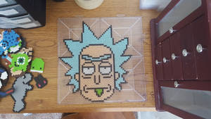 Perler Bead Rick (Rick and Morty) by GingerPocky