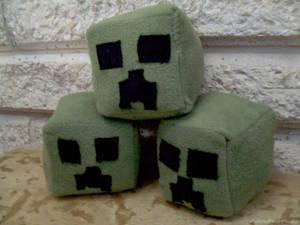 Minecraft Creeper head plush