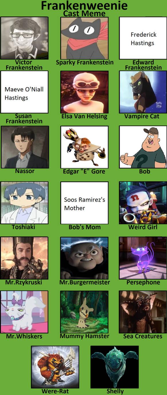 Frankenweenie Recast Meme By Cindyter On Deviantart