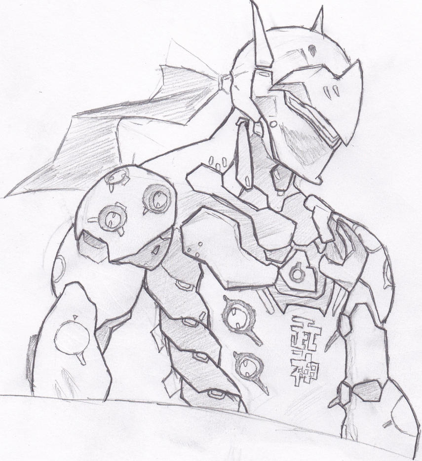 Easy Line Drawing Software : Genji by ecobits on deviantart