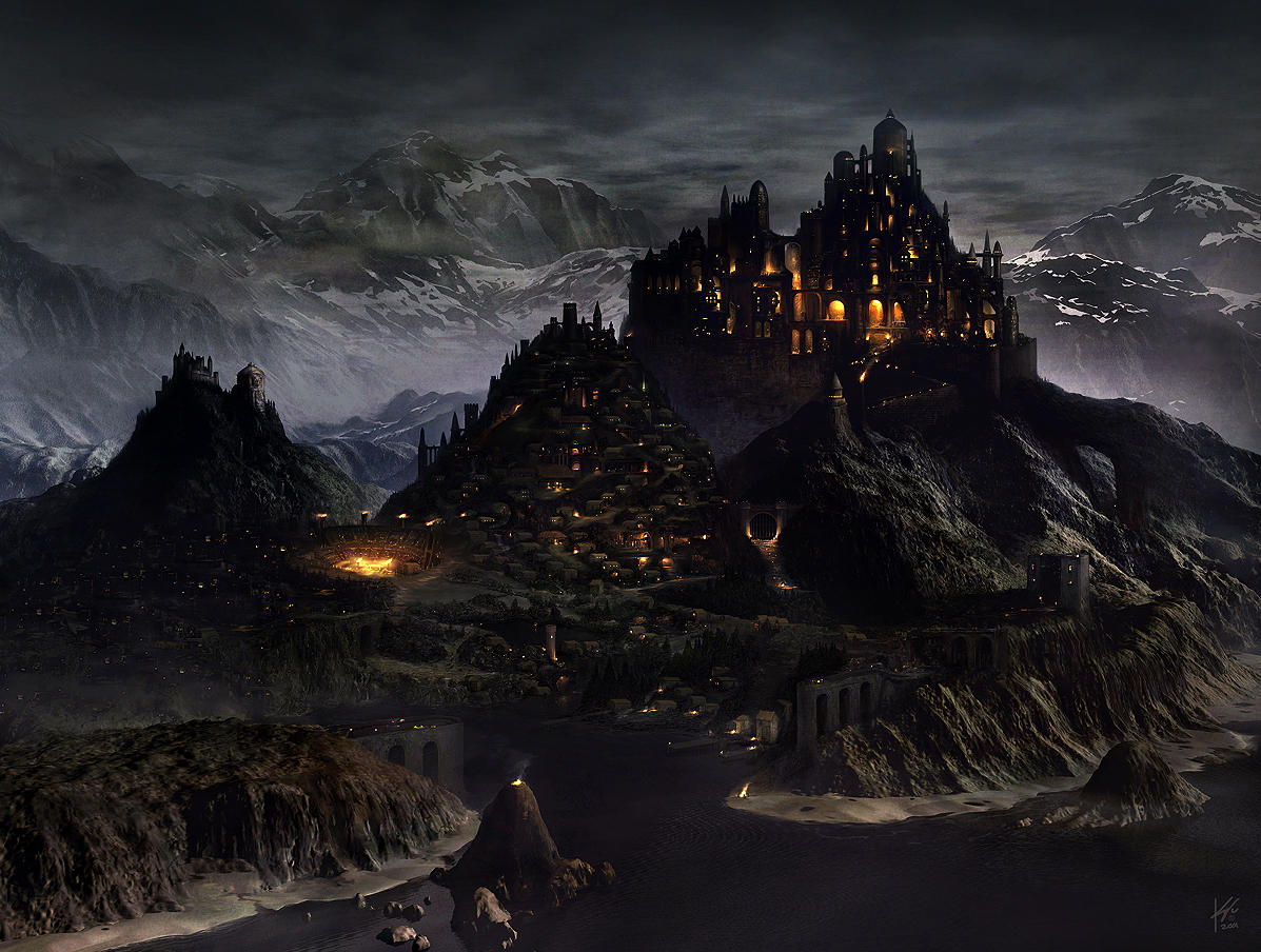 medieval city by Geistig