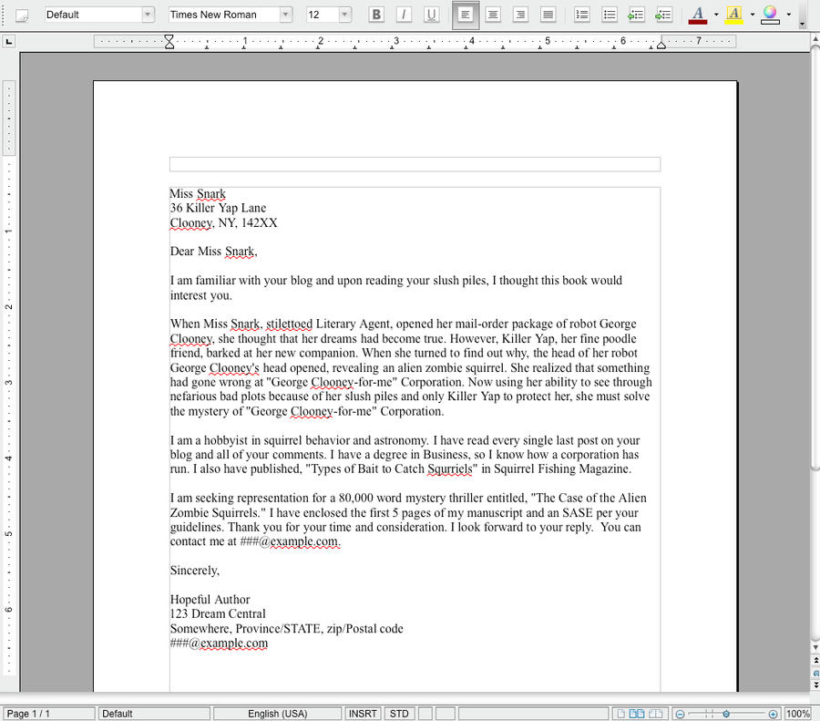 Query letter examples gallery example of resume for student.