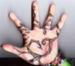 Tattoo Inspired Hand Tree P.1