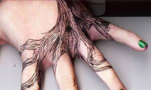 Tattoo Inspired Hand Tree C.U.