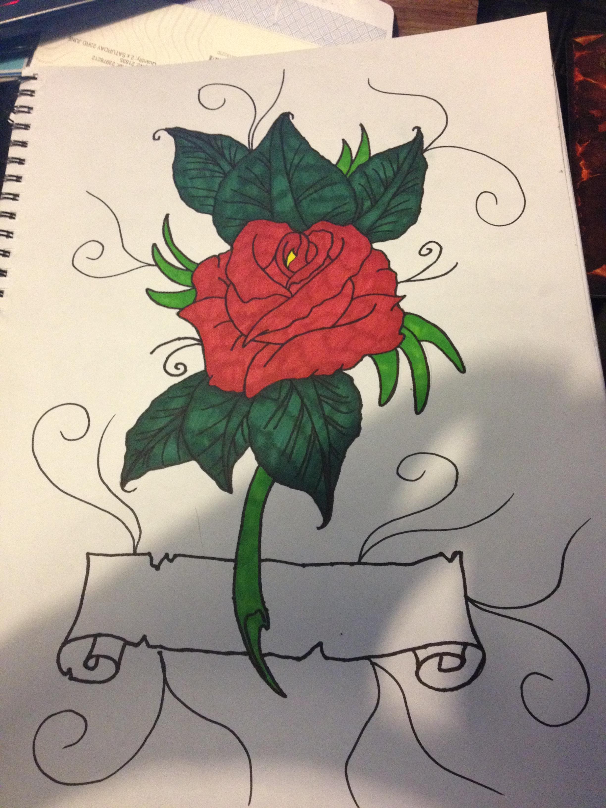 Rose Tattoo Design by AdamCareless