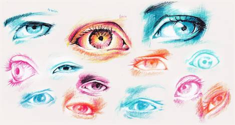 Eye studies (2014) by ynne-black