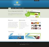 Bizmagic Website Design by everlongdrummer