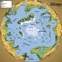 Deathband: regions and biomes map by Pachumaster