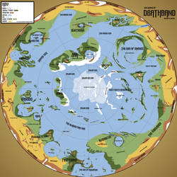 Deathband: regions and biomes map