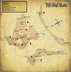 Deathband-the dead isles war: turn 0 map