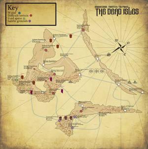 Deathband-the dead isles war: turn 6 map