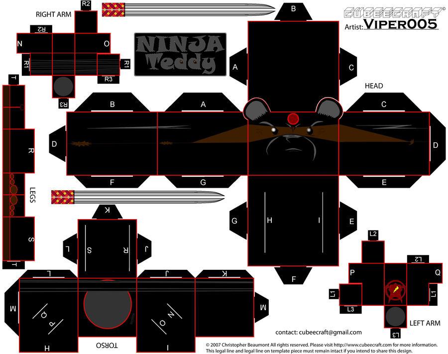 Ninja Teddy by Viper005