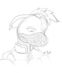 Narutober Day 16 - Ponyfied Kakashi 2 WIP