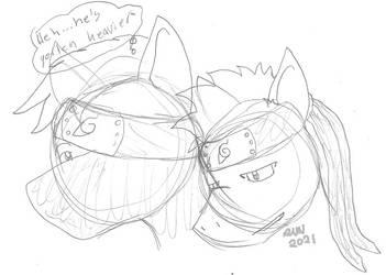 Narutober Day 17 - He's Gotten Heavier WIP