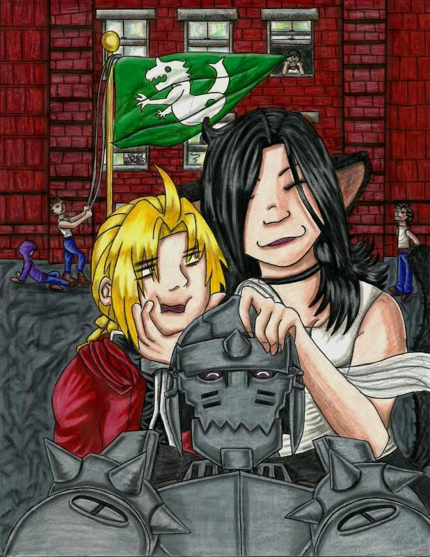 Pandora and her boys by Alphonse--Elric