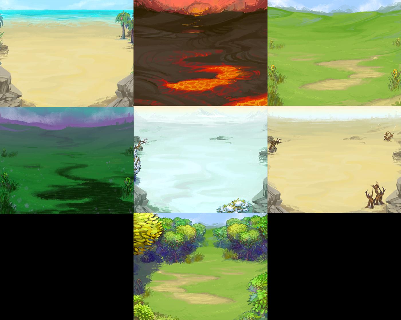 facebook game: mini heroes backgroundspainted-bees on deviantart