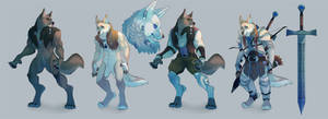 Character reference commission for Andreus! by painted-bees