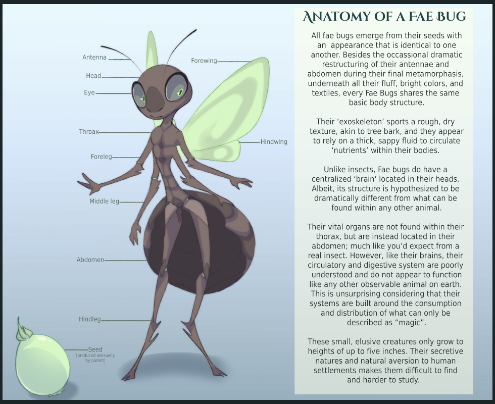 Anatomy Of A Fae Bug By Painted Bees On Deviantart