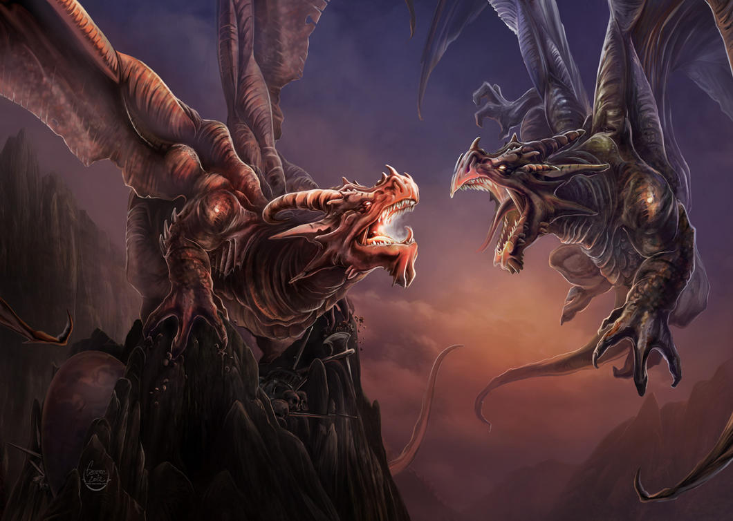 Combat de Dragons by Eacone01