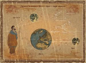 Moon - Calculate distance Moon/Earth - 01