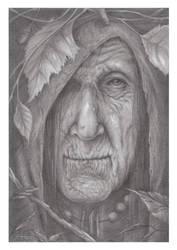 Witch pencil portrait (Premium Content Available)