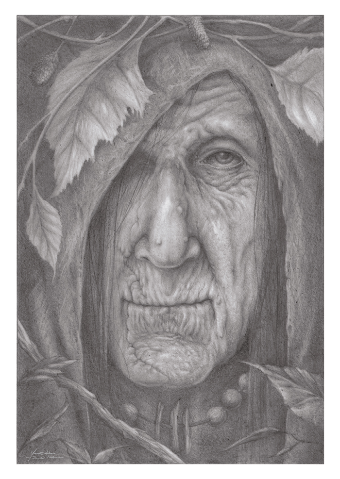 Witch pencil portrait (Premium Content Available) by Eacone01