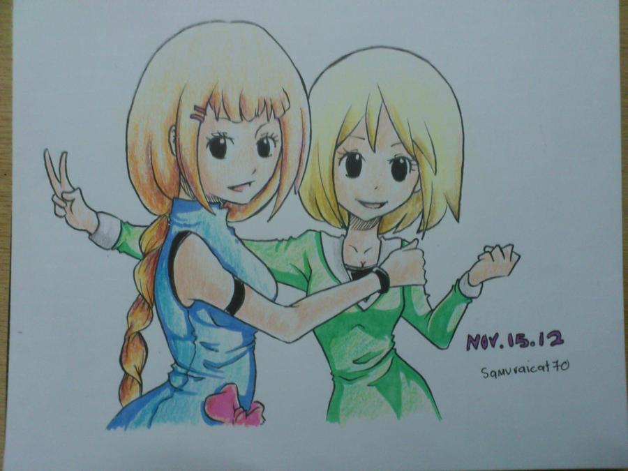 Julia and Elli by samuraicat70
