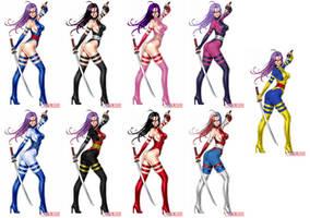 Psylocke - Alternate costumes by kamionero