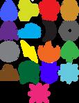 Pokemon Type Logos