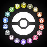 Pokemon Types Wheel by kamionero
