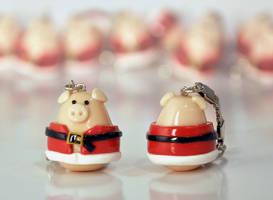 Santa pig by Haidak