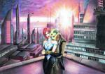 Mass Effect 2 - Sunset on Illium by ReelLifeJaneway2