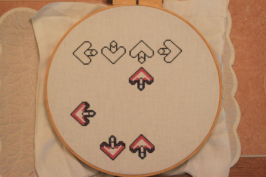 DDR Cross Stitch by moonprincessluna