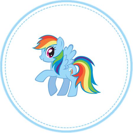 Rainbow Dash Cupcake Topper By Moonprincessluna On DeviantArt