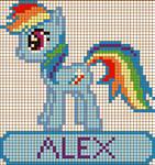 Rainbow Dash Cross Stitch Design