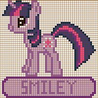 Twilight Sparkle Cross Stitch Design by moonprincessluna