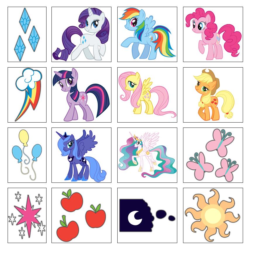 20 stickers My little pony friendship is magic stickers single sheet.
