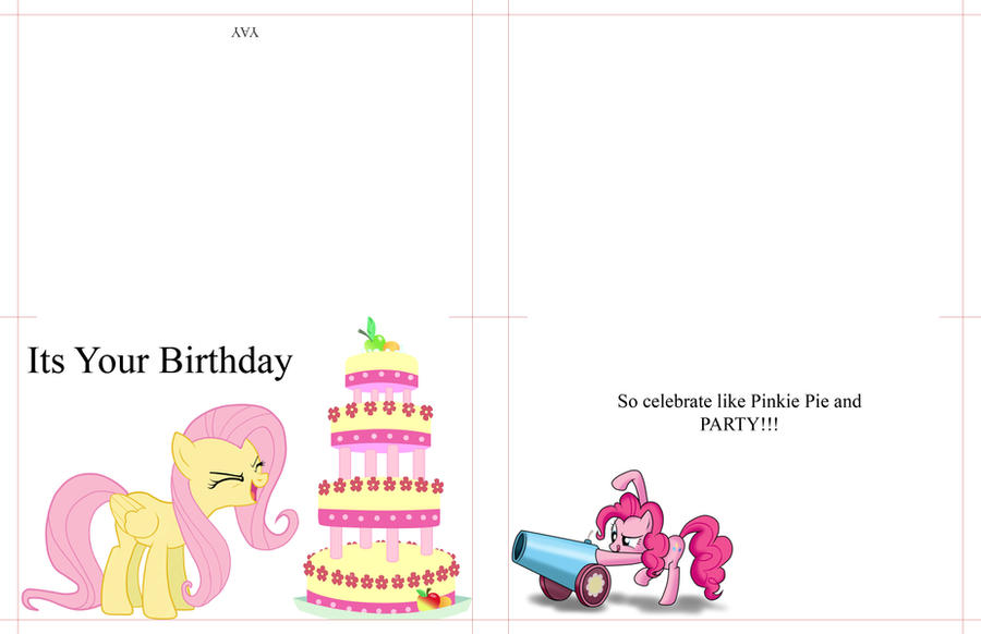 Peaceful image within my little pony printable birthday cards
