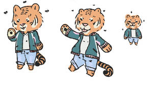 Lil Tiger Boi by tesstriestoart