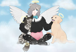All Dogs Go To Heaven by tesstriestoart