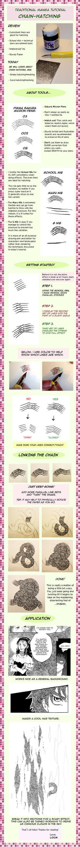 Manga Tutorial 2: Chain-Hatch by LOOMcomics