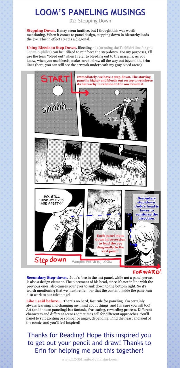 Loom's Paneling Musings 02: Stepping Down by LOOMcomics