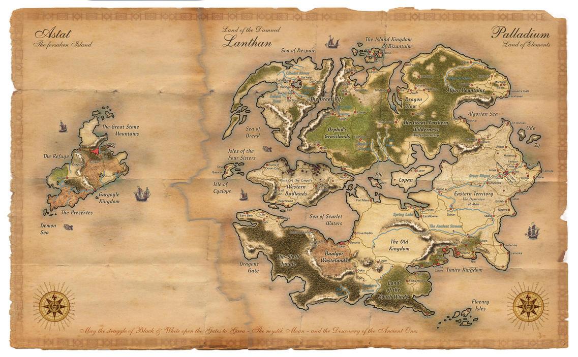 Palladium Fantasy Worldmap by Dawn2069MS on DeviantArt