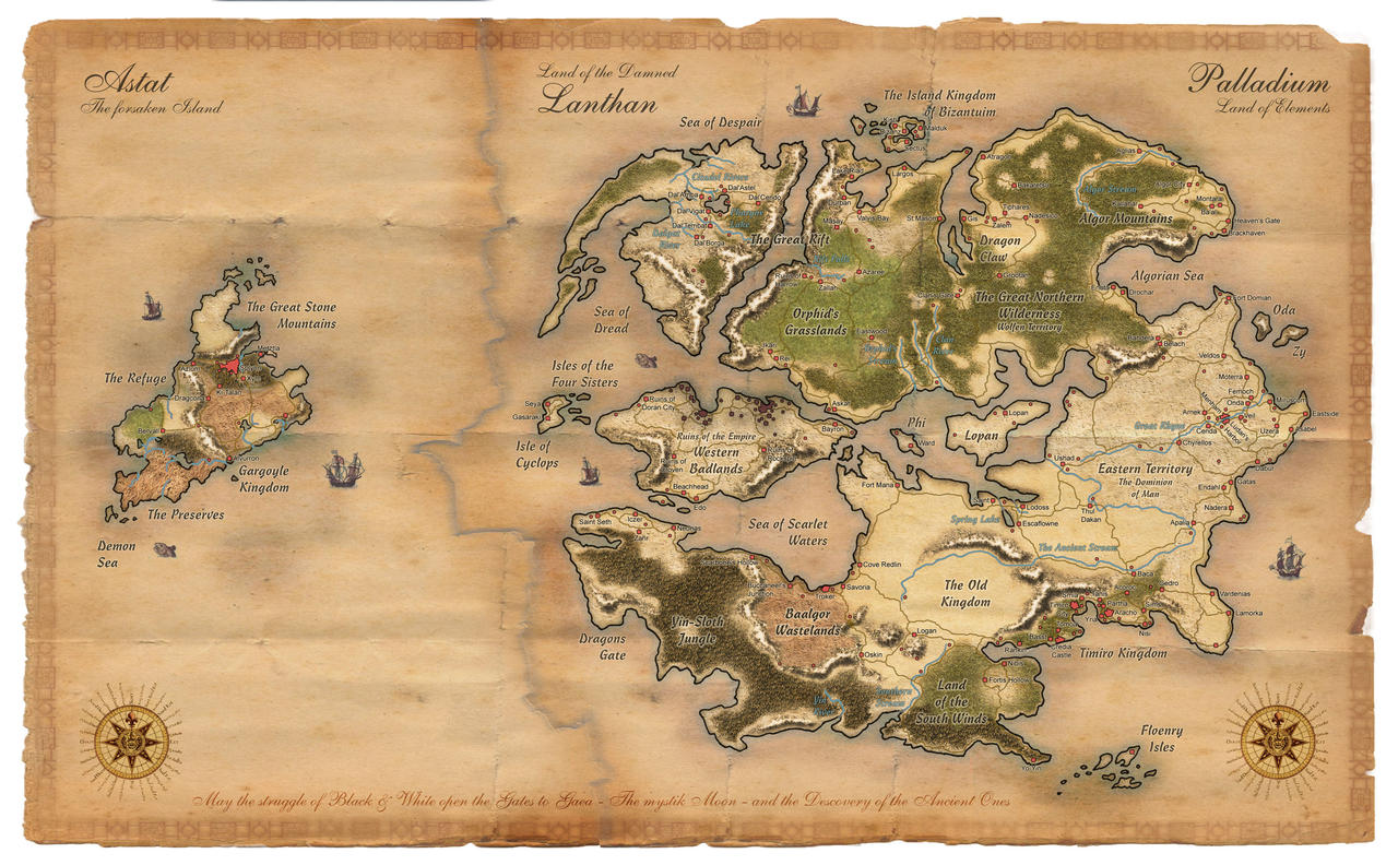 Palladium Fantasy Worldmap by Dawn2069MS on DeviantArt
