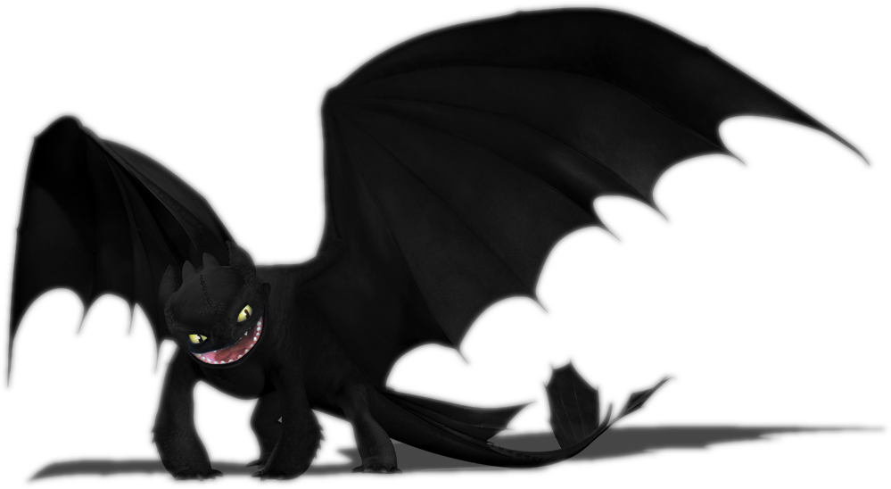 25 Renders Dragons Mangas/Réel Toothless_Render___FULLVIEW_by_MidnaKillzAll