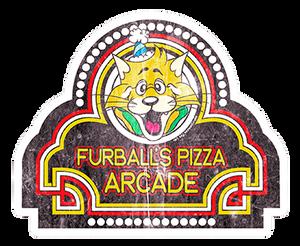 Vintage Furball's Pizza Arcade Sticker | GIFT